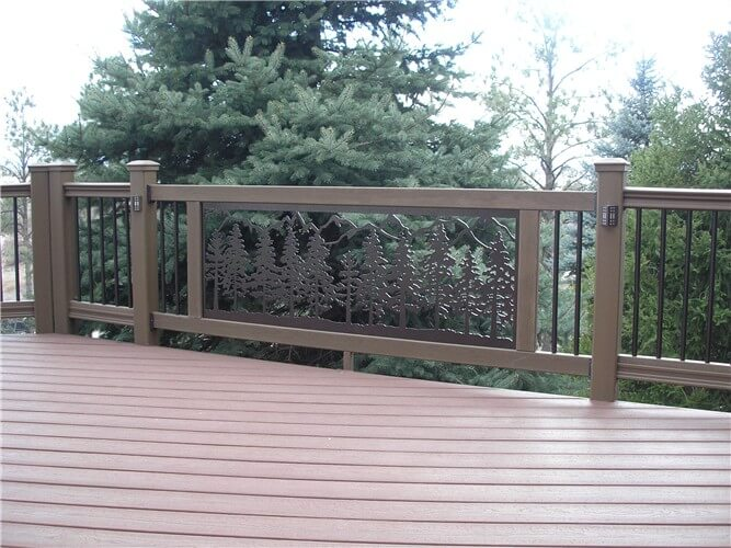 Instant Decking Panels : Custom ornamental wrought iron deck railings and spiral stairs